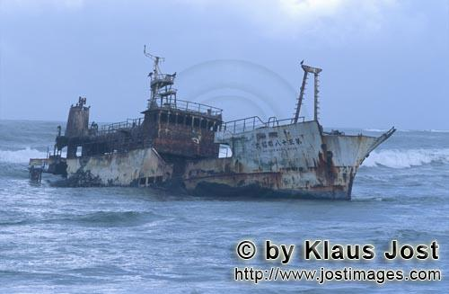 """Cape Agulhas/Western Cape/South Africa        Remains of the Meisho Maru 38 at the """"Needle""""Cape"""""""