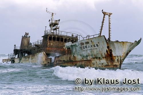 Cape Agulhas/Western Cape/South Africa        Meisho Maru 38 aground on Cape Agulhas