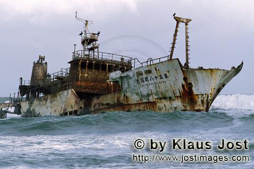 Cape Agulhas/Western Cape/South Africa        Meisho Maru 38 stranded on Cape Agulhas