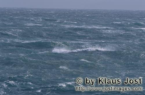 Southern tip of Africa        Stormy sea        The southern tip of Africa is known for su