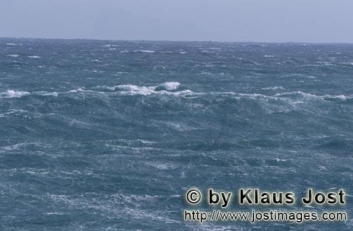 Southern tip of Africa        Sea surface agitated by the storm        The southern tip of Africa