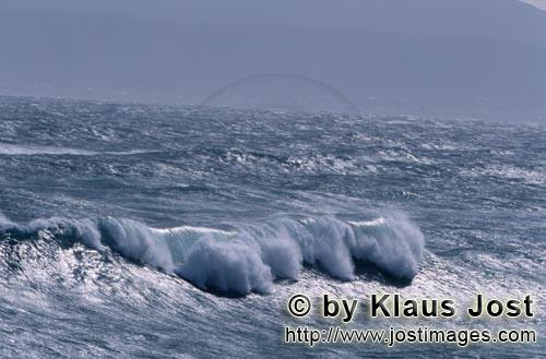 Southern tip of Africa        Heavy seas in the South Atlantic        The southern tip of Africa<