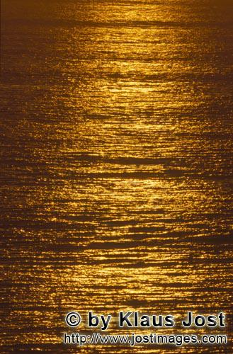 Walker Bay/Western Cape/ South Africa        Golden shines the sea at sunset