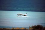 Water plane takes off