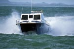 Diving boat from Andre Hartman in rough seas