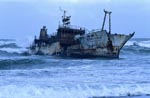 Japanese fishing trawler Meisho Maru 38 stranded at Cape Agulhas