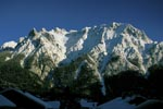 Karwendel in winter before Mittenwald
