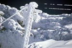 Icy temperatures on the cableway