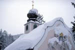 Snow-covered Mountain Chapel