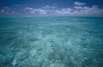 Crystal clear water in a midway lagoon