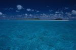 An island in the endless blue of the South seas