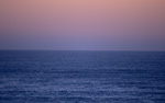 The sea in the evening light