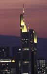 Commerzbank Frankfurt in the last evening light
