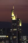 Commerzbank Frankfurt at nightfall