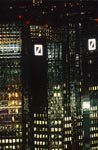 Eyecatcher Deutsche Bank at night