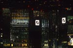 Deutsche Bank twin towers at night