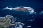 Aerial Photograph of Geyser Rock, Shark Alley and Dyer Island