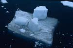 Picturesque small ice floe at Cape Anne