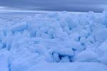 Pack ice blocks on the Cape Anne