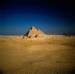 The Pyramids of Giza in Egypt.
