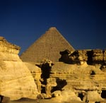 Khufu's pyramid rises from the desert