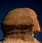 Great Sphinx of Giza - Sphinx head in profile