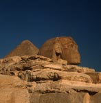 Sphinx of Giza with Cheops Pyramid in background