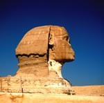 Sphinx of Giza head in profile