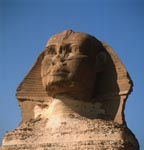 The inscrutable gaze of the Sphinx of Giza