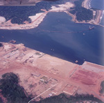 Aerial photo San Pedro Harbour - Construction phase