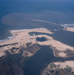 Aerial view of the harbour expansion Richards Bay with the lagoon