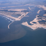 Aerial view of the harbour expansion Richards Bay with logoon