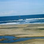 Sounding with helicopter in the surf zone