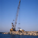 Concrete-work on North Breakwater