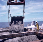Concreting of the concrete head at North Breakwater