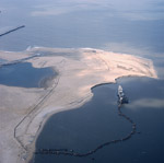 Aerial view of cutter suction dredger