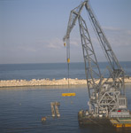 "Placing of Quay-wall blocks with ""Gamal"""